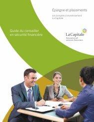 Épargne et placements Guide du conseiller en sécurité financière