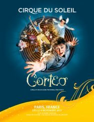 PARIS, FRANCE dès le 4 novembre 2011 - Cirque du Soleil