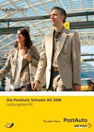 PostAuto Schweiz AG, Leistungsbericht 2006 - PostBus