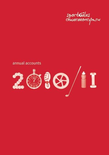annual accounts - Sport Wales
