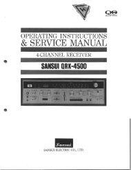 operating instructions & service manual - Audio Circuit Denmark