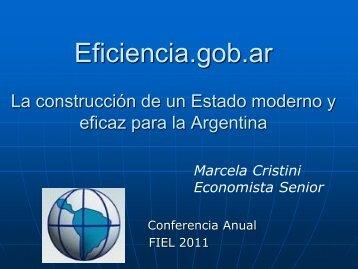 Eficiencia.gob.ar: la construcción de un Estado moderno y eficaz ...
