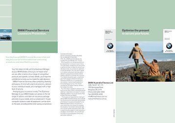 Optimise the present to secure your future. BMW Financial Services ...