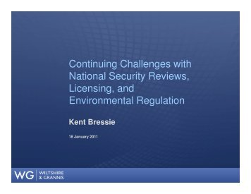 Continuing Challenges with National Security Reviews, Licensing ...