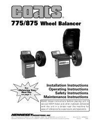 775/875 Wheel Balancer - NY Tech Supply