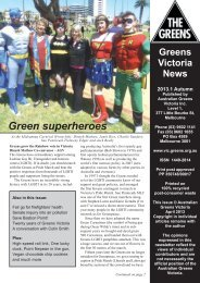 Green superheroes - Victorian Greens - Australian Greens