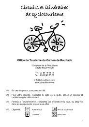 Circuits et itinéraires Circuits et itinéraires de cyclotourisme de ...