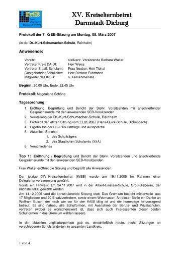 XV. Kreiselternbeirat XV. Kreiselternbeirat Darmstadt Darmstadt ...