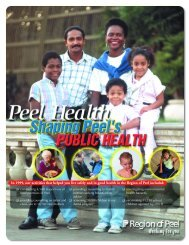 Health Annual Report - Region of Peel