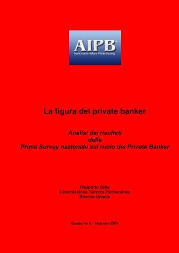 La figura del private banker - Strumentiperassociazioni.it