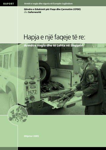 Armët e Vogla dhe të Lehta në Shqipëri - Saferworld