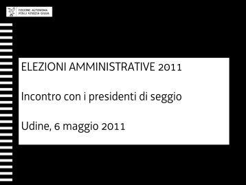 materiale relativo all'incontro di formazione del 6 maggio 2011