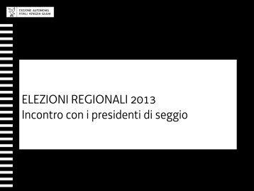 Formazione Presidenti di seggio - Sistema delle autonomie locali