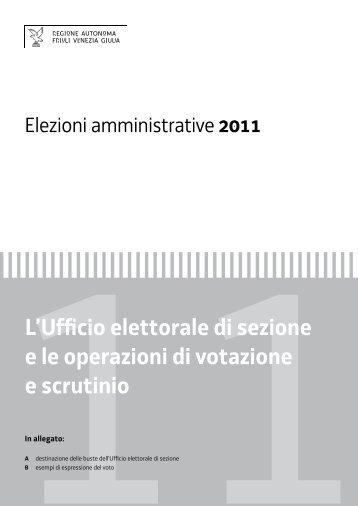 operazioni nell'Ufficio elettorale di sezione - Scrutinio