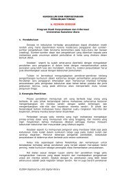 kurikulum dan perpustakaan - USU Library - Universitas Sumatera ...