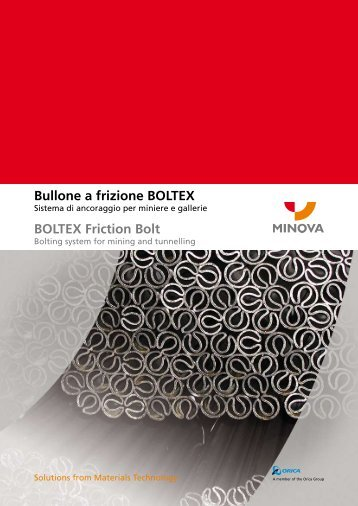 Bullone a frizione BOLTEX BOLTEX Friction Bolt - Minova-ct