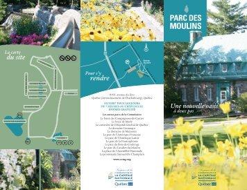 Dépliant - Le parc des Moulins - Commission de la capitale nationale
