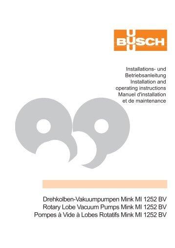 Drehkolben-Vakuumpumpen Mink MI 1252 BV Rotary Lobe Vacuum ...