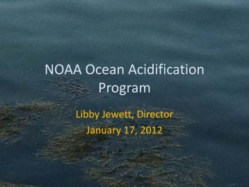 NOAA Ocean Acidification Program - NODC - NOAA