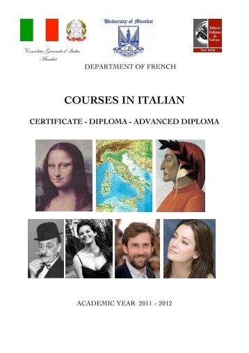 uws course handbook 2013