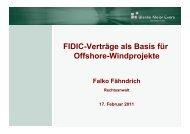 FIDIC-Verträge als Basis für Offshore-Windprojekte - wab.biz