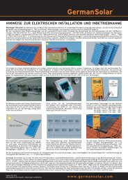 Elektrische Installationsanleitung - German Solar