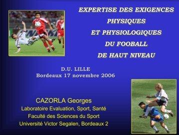 EXPERTISE DES EXIGENCES PHYSIQUES ET PHYSIOLOGIQUES ...