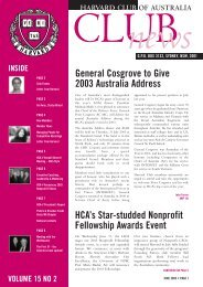 June 2003 - Harvard Club of Australia