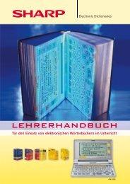 Lehrerhandbuch elektronische Wörterbücher - Sharp Electronics ...