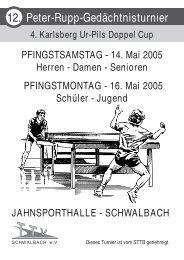 Turnier des TTV Schwalbach als pdf-Dokument - DJK Saarlouis ...