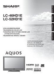 LC-46/52HD1E Operation-Manual NL - Sharp