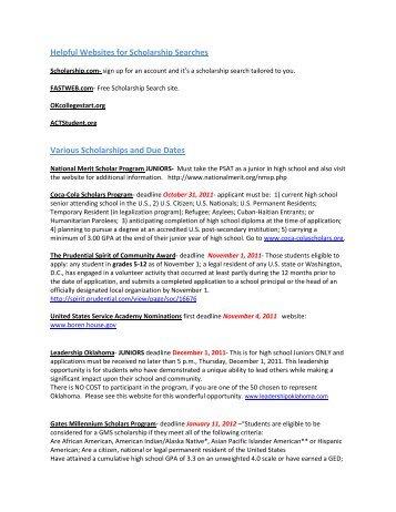 Scholarship Name Website Application Deadlines Laredo