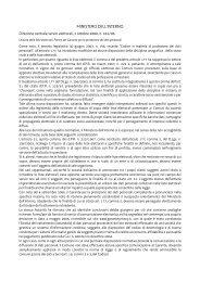 MINISTERO DELL'INTERNO - Sistema delle autonomie locali