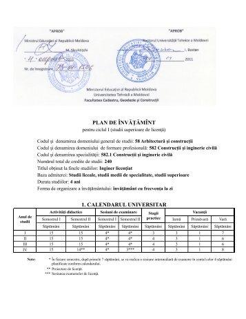 582.1 Construcții și Inginerie Civilă - Universitatea Tehnică a ...