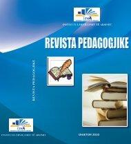 REVISTA PEDAGOGJIKE 2010.pdf - Instituti i Zhvillimit te Arsimit