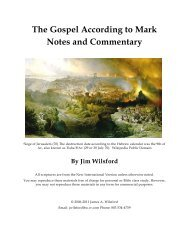 The Gospel According to Mark: Commentary and ... - Gospel Lessons