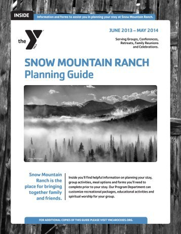 Snow Mountain Ranch Group Planning Guide for June 2013