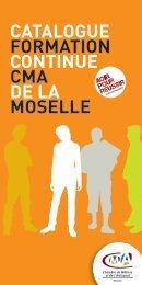 catalogue formation continue cma de la moselle - Chambre de ...