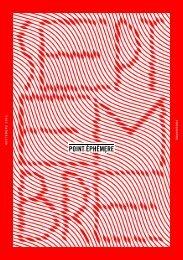 septembre 2011 programme - Point Éphémère
