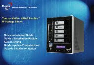 Quick Installation Guide Guide d'Installation Rapide ... - Thecus
