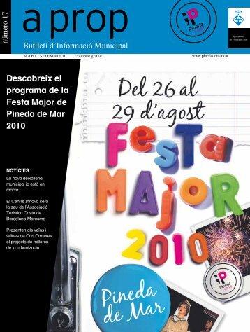Descobreix el programa de la Festa Major de Pineda de Mar 2010