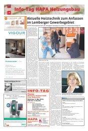 Info-Tag HAPA Heizungsbau 20 - HAPA - Heizungsbau GmbH