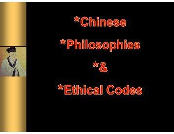 Chinese Philosophies