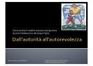 Come cambia il modello educativo del genitore ... - Marco Vicentini