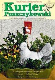 Kurier 107-fonty.indd - Stowarzyszenie Przyjaciół Puszczykowa