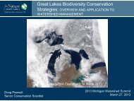 Great Lakes Biodiversity Conservation - Michigan Water ...