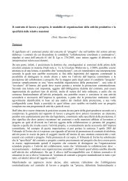 Il contratto di lavoro a progetto, le modalità di ... - LaPrevidenza.it