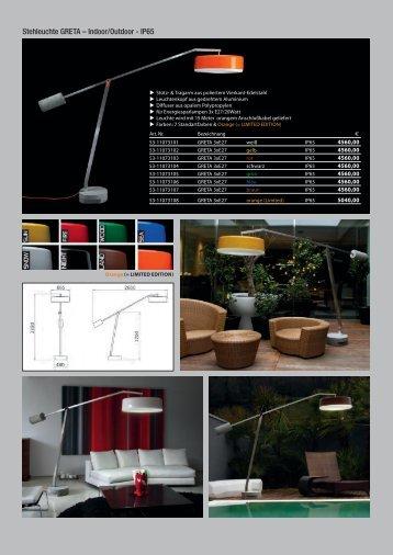 Stehleuchte GRETA – Indoor/Outdoor - IP65 - Shoplight