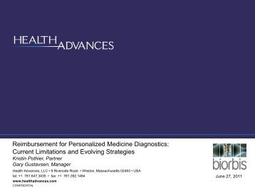 Reimbursement For Personalized Medicine Diagnostics - Molecular ...