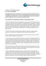 Allgemeine Geschäftsbedingungen § 1 LEGAL STATEMENT By ...